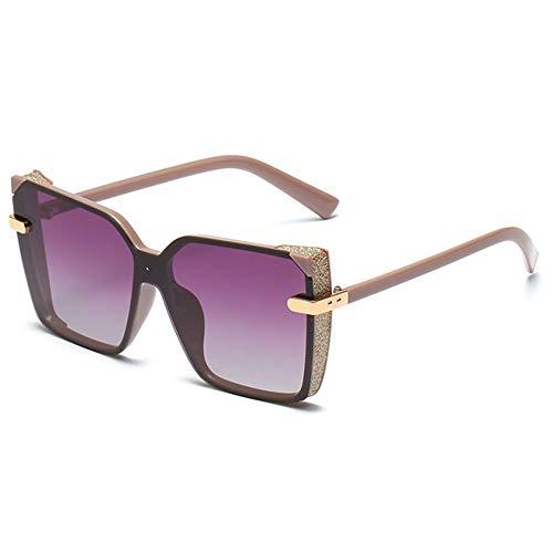 WOXING Tendencia Gafas,Conducir Aire Libre Deportes Viajes Pesca Gafas,Mujere Mujer Gafas De Sol, Ligeras Polarizadas Gafas-Púrpura 14.3x5.6cm(6x2inch)