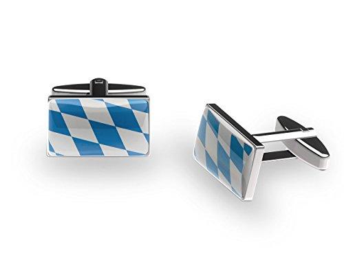 Manschettenknöpfe Bayern Blau (mit Geschenkbox)