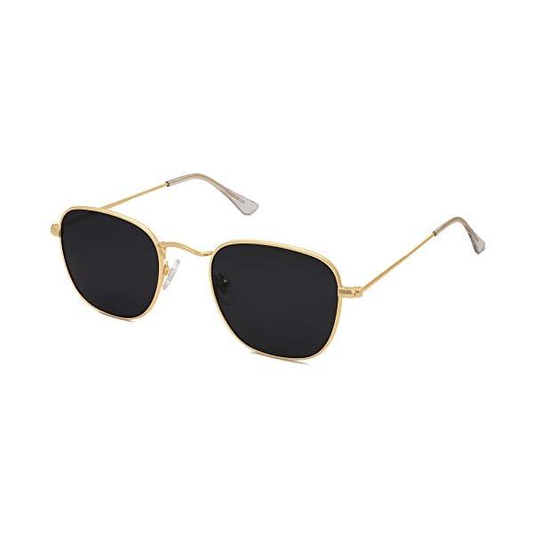 SOJOS Small Square Polarized Sunglasses for Women Men Classic Vintage Retro Style SJ1143