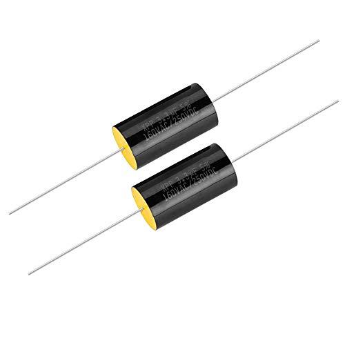 2 STÜCKE Kondensator Frequenzteiler HiFi Sound Kapazität Audio Lautsprecher Kondensator Reine Kupferdraht Pins für Auto Höhen, Lautsprecher Frequenzteiler, etc.(3.3uf)