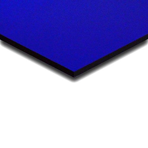 3 mm PLEXIGLAS® blau 5C01 transparent, trotz der Blickdurchlässigkeit eine Lichtdurchlässikeit von nur 5% - Maße: 50x50x0,3 cm
