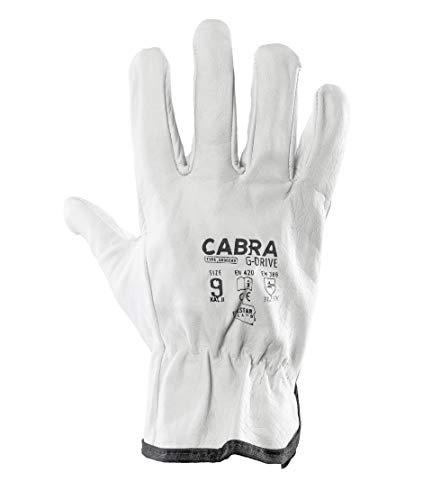 Cabra G-Drive 1 Paar Montagehandschuhe Schutzhandschuhe Ziegenleder Lederhandschuhe Arbeitshandschuhe (1, 10 (XL))