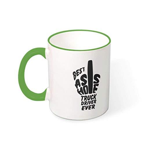 Lind88 Driver Ever White Cup Mix Cappuccino Bekers met Handvat Keramische Novelty Bekers - Hanukkah Geschenken, voor Familie gebruik (11 OZ)