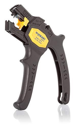 Jokari Abisolierzange Super 4 Plus (inkl. Seitenschneider, für Leiterquerschnitte von 0,2-6mm², Längenanschlag verstellbar 5-15 mm, Griff ergonomisch, Klingen auswechselbar) 460100