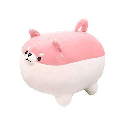 Plüschtiere Puppe 3D niedlich Shiba Inu Kissen weiche Taille Kissen Plüsch gefüllte Toy Plüschpuppe Nettes Fettes Shiba Inu Plüschtier für Kinder Baby Puppe Soft Touch Toys Spielzeug 40 cm