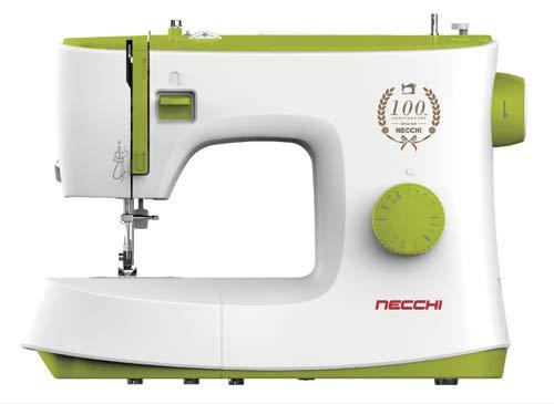 Necchi K408A Macchina per Cucire, Interno in pressofusione in Alluminio, scocca in ABS, Light Green, Regular