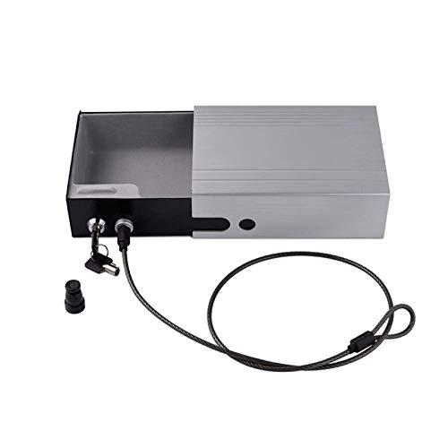 XHMCDZ Cajas Fuertes y Cerraduras - Caja Fuerte con aleación de Aluminio de Seguridad con Cerradura de la Llave (Color : Gray)