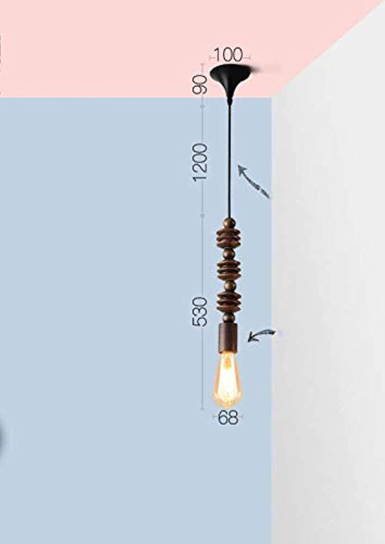 HBLJ  American Industrial Wind Kreative Beleuchtung, Vintage Cafe Restaurant Kronleuchter, nordischer Stil Massivholz-Kronleuchter-Kombination (Farbe  E, Gre  Einheitsgre)