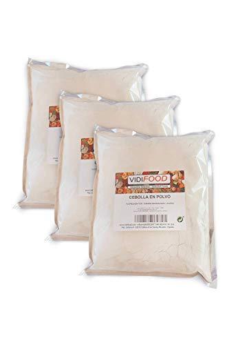 Cipolla in Polvere - 3kg - Cipolla Fresca Macinata - Polvere Salutare di Spezie - Pura e Sigillata - Dieta Chetogenica, Paleo e Vegana