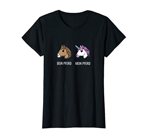 Damen Pferd Einhorn Reiten Mädchen Reiter Pferdeliebhaber T-Shirt