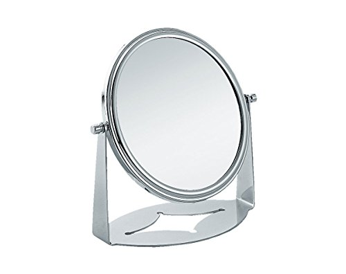 Nicol 4022400 CLAIRE Kosmetikspiegel, Standspiegel 4-fach Vergrößerung, Stahl hochwertig verchromt