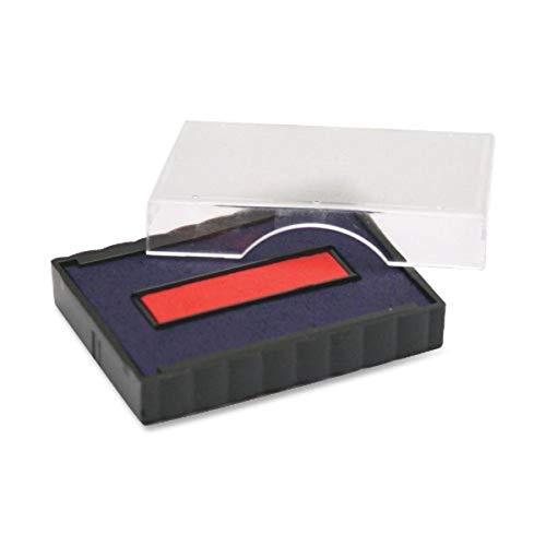 U. S. cachet & Sign Trodat T4750 Tampon de remplacement pour ordinateurs portables, 2,5 cm Largeur x Profondeur de 4,1 cm, Rouge/bleu (P4750br)