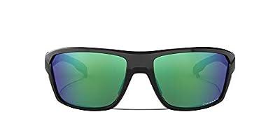 Oakley Men's OO9416 Split Shot Rectangular Sunglasses, Polished Black/Prizm Shallow H2O Polarized, 64 mm