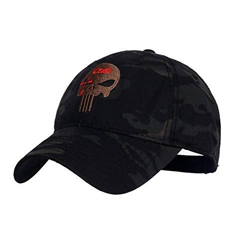 DAIDAIBQM Männer Frauen Baseball Cap Laufmütze Hut Tactical Hat Punisher Team Cotton Hat Angepasst