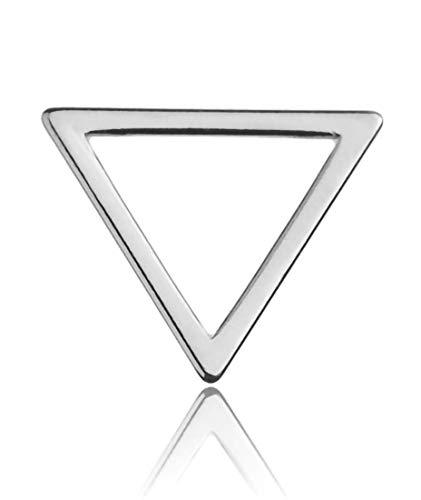 Sadingo Collar de macramé de plata 925 (1 pieza 12 x 10 mm rodiada), pulsera minimalista