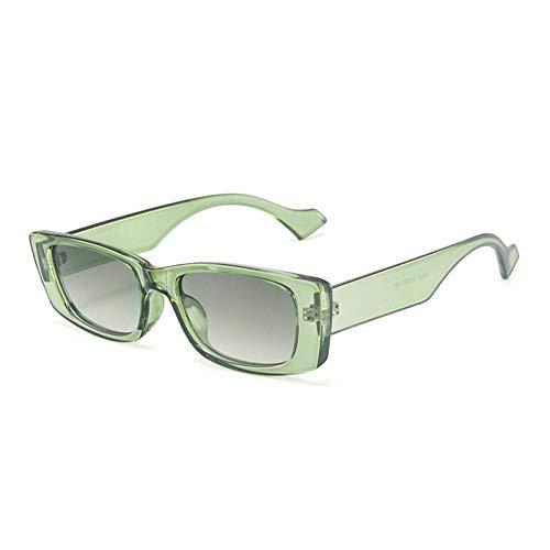 ZZOW Gafas De Sol Rectangulares Pequeñas Retro para Mujer Ins Moda Popular Gafas De Color Caramelo para Hombres Gafas De Sol Cuadradas Sombras Uv400