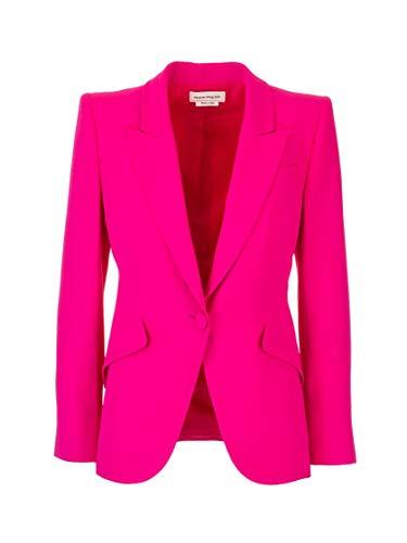 Luxury Fashion | Alexander Mcqueen Dames 610628QEAAA5033 Fuchsia Acetaat Blazers | Lente-zomer 20