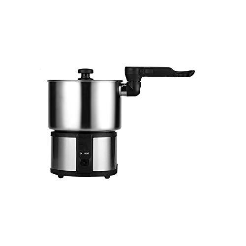 N / A Mini-Hot Pot mit doppelter Spannung, tragbarer Kleiner Topf, Reisetopf aus Edelstahl 304, Elektroherd, Elektroherd im Schlafsaal,