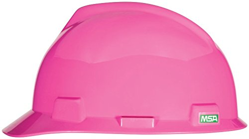 MSA 475358 V-Gard Slotted Hard Hat, Cap Style, with 4-point Fas-Trac III Suspension, Standard, White