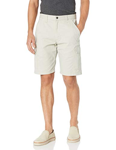Wrangler Authentics Men's Classic Relaxed Fit Cargo Short, Dark Putty, 34