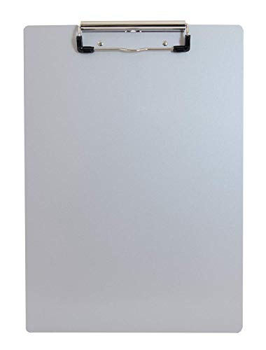 Saunders 21517 Recycled Aluminum Clipboard - Silver, Letter Size, 8.5 in. x 12 in. Document Holder with Low Profile Clip