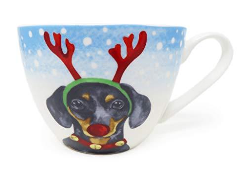 Portobello By Inspire British Bone China Holiday Mug Cup (Dog Seasons Greetings)