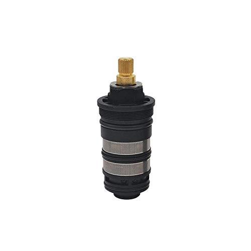 C/H Válvula Mezcladora de Termostato Negro Cartucho Grifo Ducha para Baño Ducha, Ajuste La Temperatura del Agua Mezcla Fregadero Válvula Caliente Y Fría