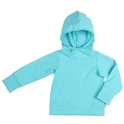 Lilakind' - Sudadera con capucha para bebé (varios colores, talla 62/68-146/152), color azul azul turquesa 86 cm-92 cm
