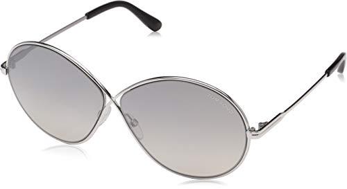 Tom Ford FT0564 18C Shiny Rhodium Rania Round Sunglasses Lens Category 2 Lens M
