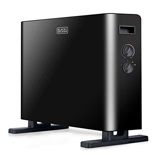 Black+Decker BXCSH2000E Termoconvettore, 2000 W, Steel, Nero
