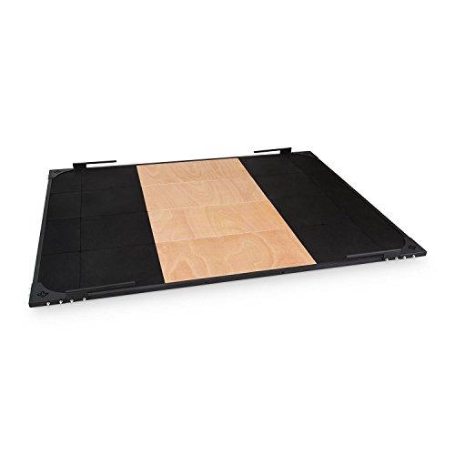 Capital Sports Smashboard - Gewichtheberplattform, Fallschutzmatte, Weightlifting Platform, Fallschutzplatte, Abmessung: 2 m x 2,5 m, Gewichtsfang aus Gummi, schwarz