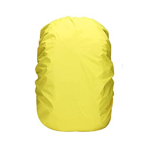 TAHUAON Housse de pluie imperméable pour sac à dos avec boucle antidérapante réglable pour camping (210t jaune fluo 35 l (pour 30-40 l)