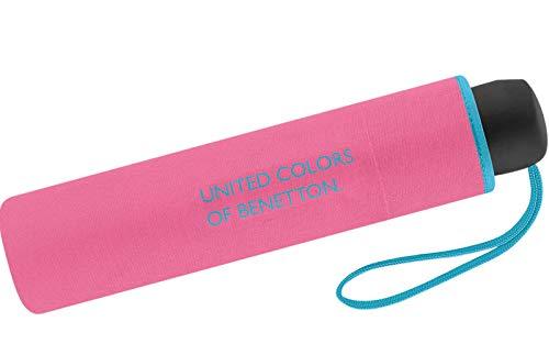 United Colors of Benetton Paragua clásico Rosa Hot Pink 95 cm