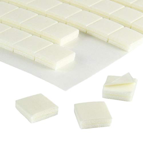 Doppelseitige Schaumklebepads | 3D Klebepads | 10 x 10 x 3 mm | Zum Fixieren, Basteln, Kaschieren, Bekleben / 20 Stück