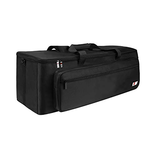 BUBM 30x12x14.5 Large Travel Gig Band Cable File Bag,with double separate bags, Musical instrument Cable & Accessories Organizer Gig Bag/Soft Case(Black)