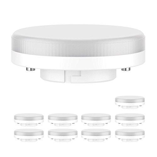 ledscom.de GX53 LED Lampe 6.3W=40W 450lm 100° warm-weiß, 10 Stk.