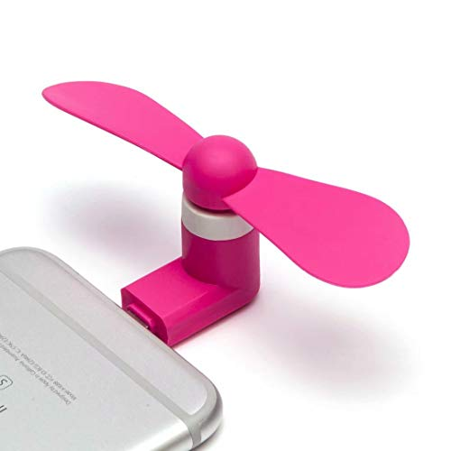 Cell Phone Fan, Portable Rotating Cooling Iphone Fan,Mini Fan for iPhone/iPad Mobile phone Fan Summer Accessories