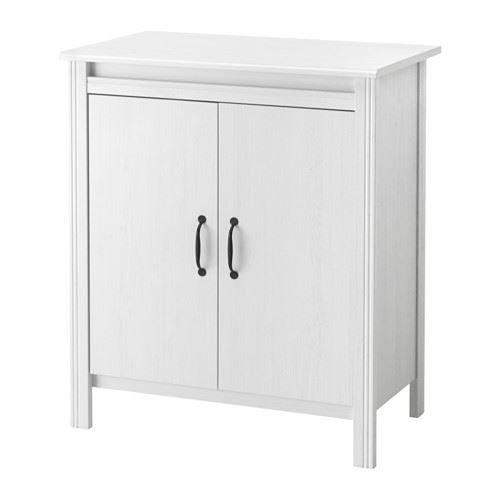 BRUSALI - Schrank mit Türen, weiß