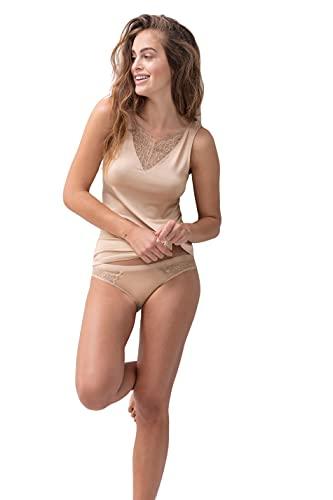 Mey Fashion Serie Ami 45507 - Camiseta de tirantes anchos para mujer Color crema. XS