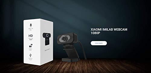 Xiao mi Webcam Full HD mit Stereo-Mikrofon, Web-Kamera für Videochat und Aufnahme,für YouTube, Skype Videoanrufe, Lernen, Konferenz, Spielen