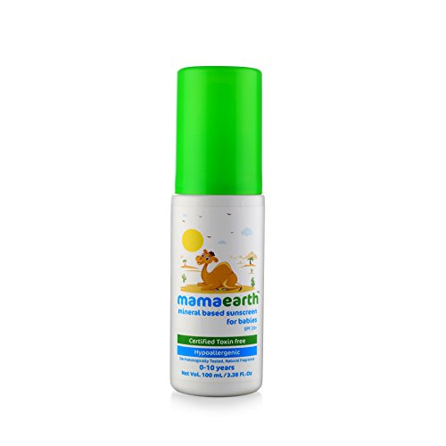 Mamaearth Mineral Based Sunscreen Baby Lotion SPF 20+,Hypoallergenic,100ml,(0-10 Years)