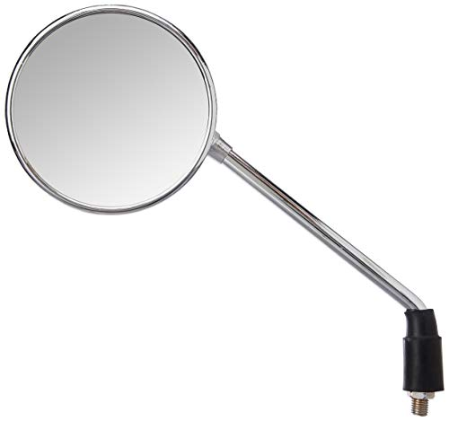 Uno Minda RV-6002L Shatterproof Glass Rear View Mirror(Chrome Finish)-Left Hand for Reml Enfield Classic
