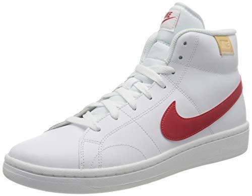 Nike Court Royale 2 Mid, Zapatos de Tenis Hombre, White Univ Red White Onyx, 40.5 EU