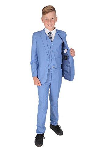 Cinda Jungen Formale Hellblau Anzüge Hochzeits-Seite-Jungen-Partei-Abschlussball 5 Stück-Klage (156-160)