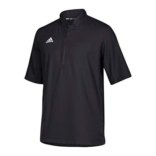 adidas Team Iconic Short Sleeve Quarter-Zip Polo - Men's Multi-Sport XL Black/White