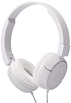 JBL Pure Bass Sound T450 Wired On-Ear Headphones White