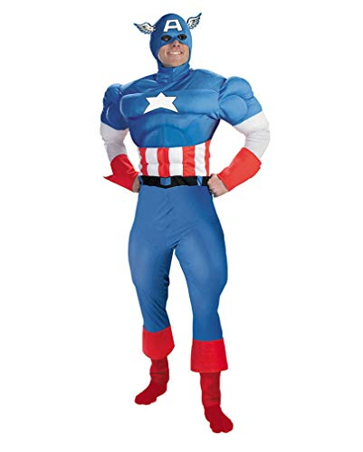 Horror-Shop Captain America Muscle Costume Deluxe