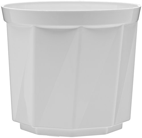 Plastkon Décoration Pot Rose Diamètre 17 cm, Blanc