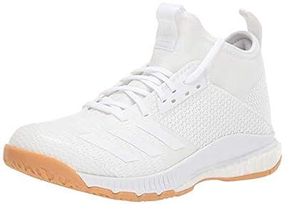 adidas Women's Crazyflight X 3 Mid Volleyball Shoe, White/Gum, 8.5 M US