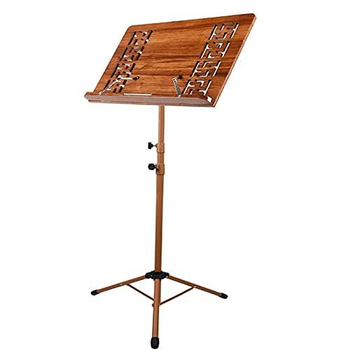 HTQ Soporte de música plegable portátil, soporte de música de tambor de madera, (color: marrón, tamaño: 70 – 180 cm)